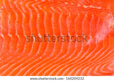 A background of fresh smoked salmon