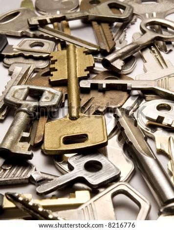 a background of keys - stock photo