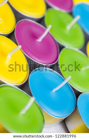 a background of tea light candles