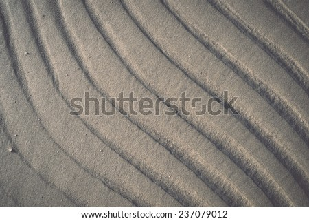 A background texture of unrefined, damp and grainy natural golden sand. - retro, vintage style look