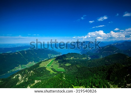 a backgrounds panorama mountains in Austria in Alps - stock photo