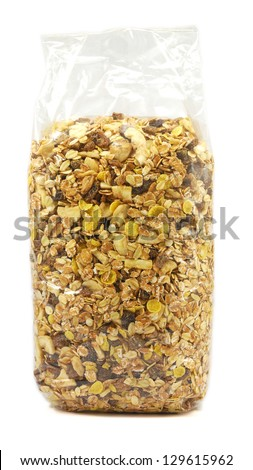 A bag of muesli - stock photo