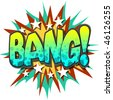 A Bang Comic Book Illustration Isolated on  White Background - stock photo