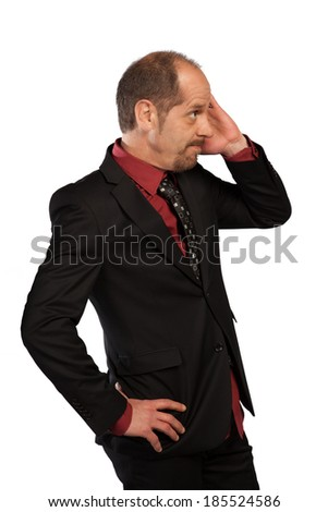 A Banker is not really sure if that will work. - stock photo