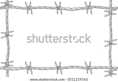 Barbed Wire Background Page Border Stock Illustration 1011259165 ...