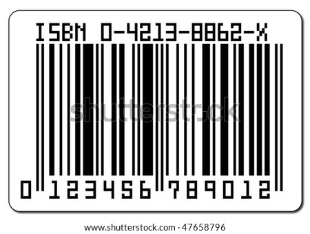 A barcode isolated on a white background - stock photo