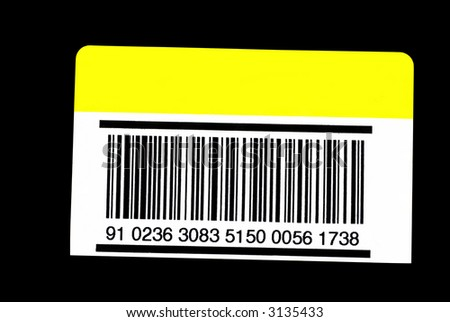 A barcode isolated on an envelope ready to put your text