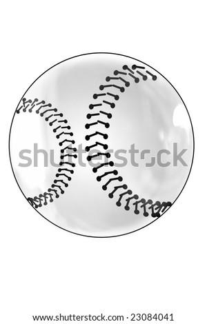 a baseball ball isolated - stock photo