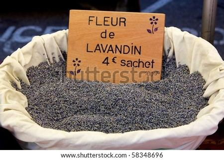 A basket of Lavender - stock photo