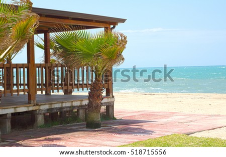 A beach house in spring