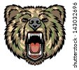A Bear head.  Perfect for paintball mascot in a military style. This is illustration ideal for a mascot and tattoo or T-shirt graphic. Raster version, vector file also included in the portfolio. - stock photo
