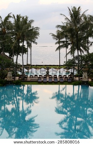 A beautiful and luxurious hotel resort in Indonesia