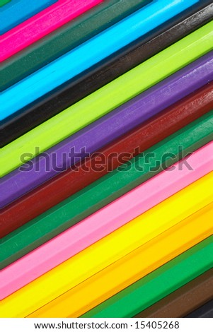 A beautiful assortment of colored pencils background