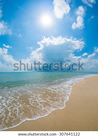 A beautiful beach and tropical sea - stock photo