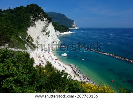 a beautiful beach in the monte conero nature reserve