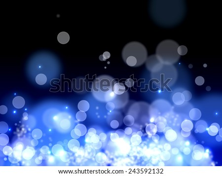 A beautiful Bokeh background with glaring lights Background.  - stock photo