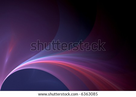 a beautiful bright flowing waves background - stock photo