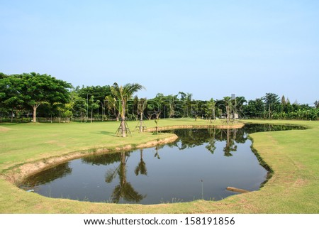 A beautiful golf course in Chiang Mai, Thailand.