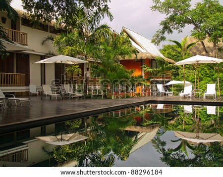 A Beautiful Hotel Resort in Costa Rica - stock photo
