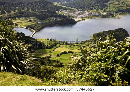 A beautiful landscape from the island of Azores in Portugal