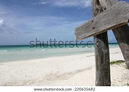 a beautiful landscape of beaches in cuba  - stock photo