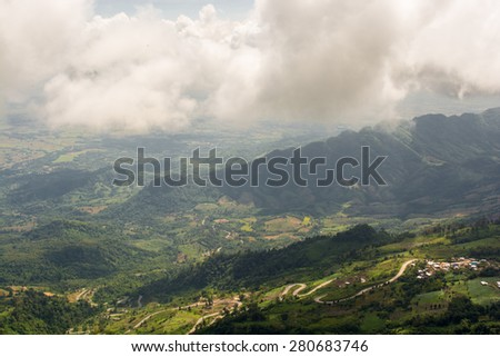 A beautiful landscape with mountains nature at Phu Thap Boek,Thailand