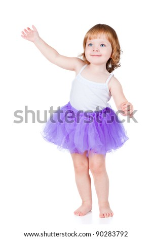 a beautiful little girl dancing