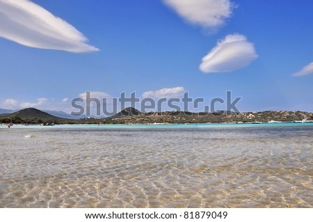 a beautiful Mediterranean bay with  clear water beach - stock photo