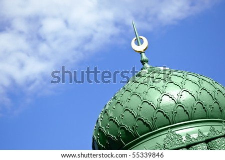 A beautiful moorish sign in the sky - stock photo