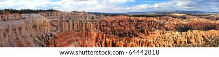 A beautiful panorama of Bryce Canyon national park - stock photo