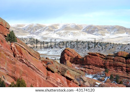 A beautiful photograph capturing the rocky mountains in colorful Colorado. - stock photo