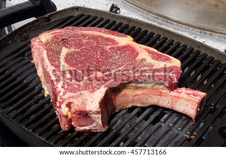 a beautiful rib of beef to cook on the barbecue