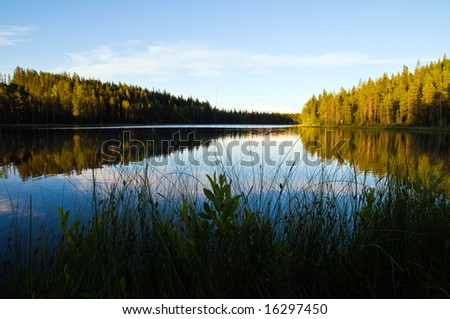 a beautiful scenery from the north of Sweden - stock photo