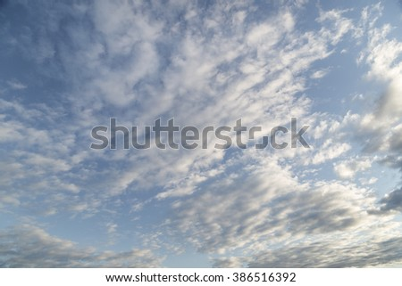 A beautiful sky full of late afternoon clouds - stock photo