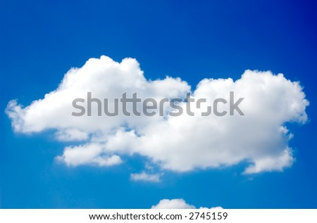 A Beautiful sky, isolated cloud over blue sky. - stock photo
