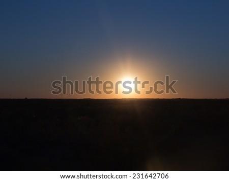 a beautiful sunset - stock photo