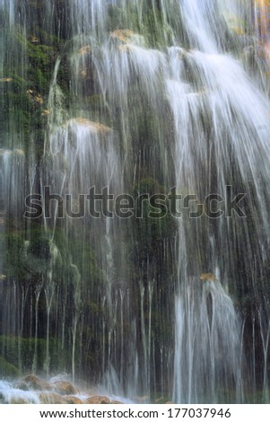 "A beautiful ""Urlatoarea"" waterfall, from Bucegi Mountain, Romania  - stock photo"