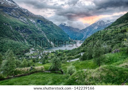 a beautiful view from the Gerianger area in Norway, Scandinavia
