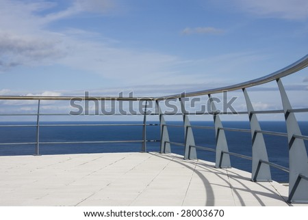 A beautiful view over the sea on the azores island - stock photo