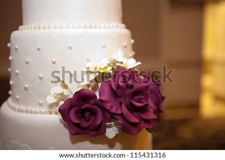 A beautiful wedding cake - stock photo