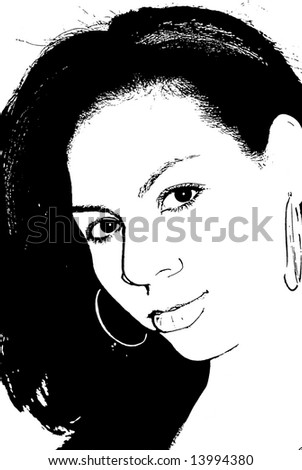 A beautiful woman of mixed heritage - stock photo