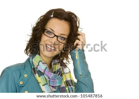 a beautiful woman with perfect styling - stock photo