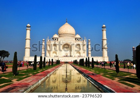 A beautiful wonder of the world on a bright sunny afternoon - stock photo