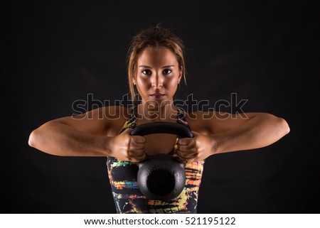 A beautiful young woman exercising - fitness concept