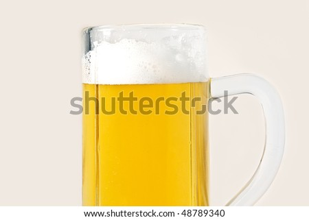 A beer mug isolated on white