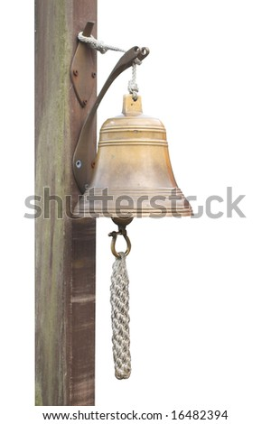 a bell in a dock on white background.