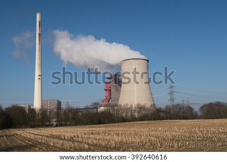 a big nuclear power station