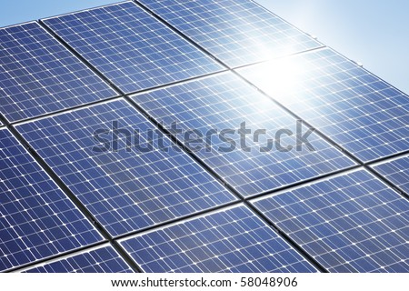 a big solar plate - stock photo