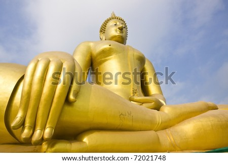 A biggest Buddha in Thailand, Ang Thong province