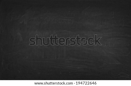 A black chalkboard - stock photo